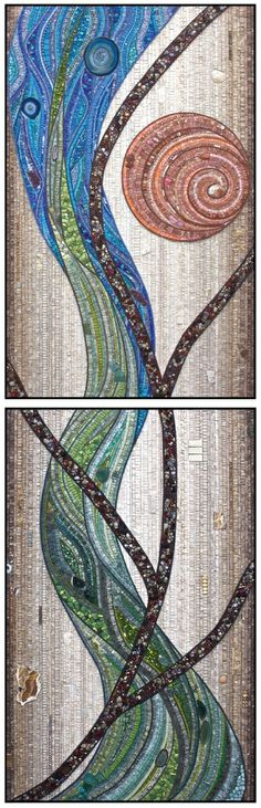 "Contemporary Mosaic - ""Dreamtime "" (Original Art from Jacqueline Iskander)"