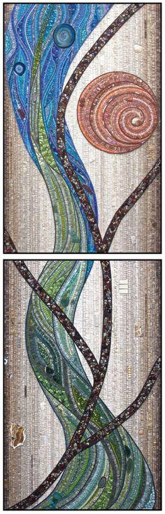 "Contemporary Mosaic - ""Dreamtime "" (Original Art from Jacqueline Iskander)"