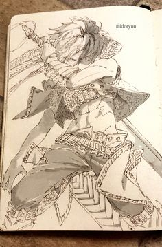 Character: Todoroki Shouto (Traditonal Art) by Midorynn