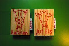 #stempel #stamp #juf #kadojuf #naam #namestamp #name #teacher #zelfgemaakt #carved #karen.stempels