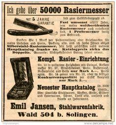 Original-Werbung/ Anzeige 1908 - 50000 RASIERMESSER / EMIL JANSEN - SOLINGEN - ca. 75 x 80 mm