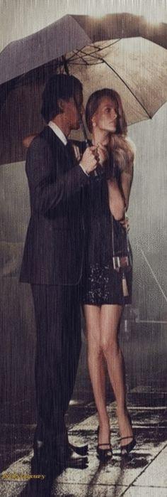 Romantic Rainy Night- LV GIF | LadyLuxuryDesigns