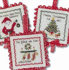 Twas The Night Ornaments IV - Cross Stitch Pattern