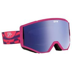 Goggles and Sunglasses 21230: Spy Ace Goggles Raspberry Swirl Pink W Dark Blue Spectra + Pink -> BUY IT NOW ONLY: $44.95 on eBay!