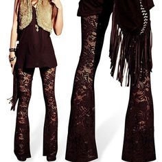Find More Pants & Capris Information about Lady Fashion Sexy Legging Lace Floral Hollow Flares Casual Elastic Trouses Pants,High Quality leggings black and white,China leggings as pants Suppliers, Cheap pante technology from Dspace Store on Aliexpress.com