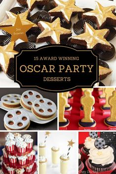 The best Oscar party desserts include upscale cake pops, chocolate covered fruit, cupcakes, and cookies. We have everything you'll need to make your Oscar party special!