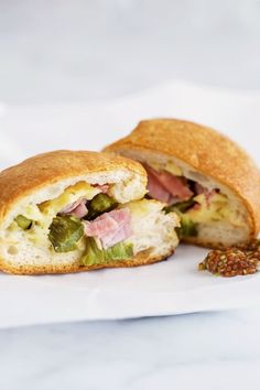 The only thing better than bread recipes are stuffed bread recipes! Stuff dinner rolls or flaky biscuits with roasted asparagus, ham, and melty Gouda cheese. This is a springtime recipe that's sure to please. Like a homemade hot pocket, but better!