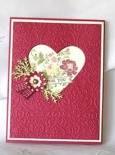 Stampin Up Handmade Greeting Card For You by JulieAnnesTreasures,