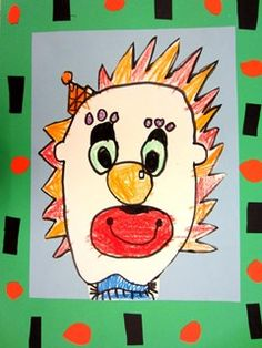 Student work - Kindergarten Clowns