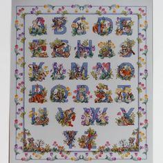 WOODLAND ALPHABET Sampler Cross Stitch Kit Donna Giampa Forest Animals by NeedleLittleTherapy on Etsy Crewel Embroidery Kits, Counted Cross Stitch Kits, Forest Animals, Linen Pillows, Pansies, Woodland, Alphabet, Handmade Gifts, Etsy