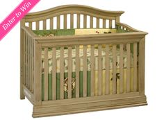 WIN IT! One Project Nursery reader will win the Dakota Lifetime Convertible Crib in driftwood from Suite Bebé.