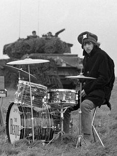 1965 - Ringo in Help! film (backstage photo).