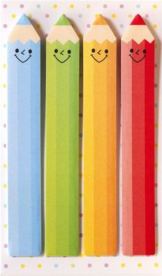 long funny crayons bookmark stickers Post-it
