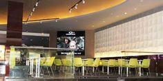 Refurbishment and re-branding works Cinestar / VOX Cinema in Marina Mall, Abu Dhabi. The Marina Mall Cinestar cinema was the first cinema to be refurbished and re-branded to VOX Cinemas. Refurbishment, Abu Dhabi, Mall, Cinema, Branding, Furniture, Home Decor, Movies, Cinema Movie Theater