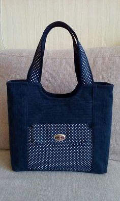 Beautiful denim jeans tote wit