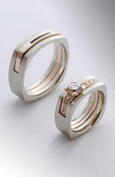 Luxury Engagement Rings, Engagement Rings Couple, Designer Engagement Rings, Rose Gold Engagement Ring, Couple Rings, Unique Ring Designs, Gold Ring Designs, Unique Rings, Beautiful Rings
