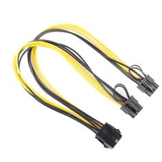 CPU 8Pin to Graphics Video Card Double PCI-E PCI Express 8Pin(6Pin 2Pin) Power Supply Cable 30cm Connector Cables New Promotion