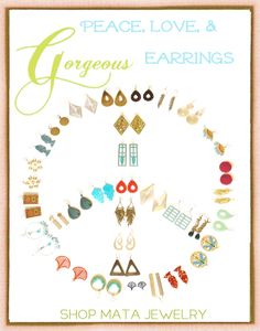 lots of fair trade earrings to choose from