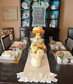 Frugal Fall Table Decor