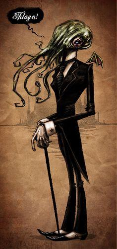 """""""Dr Cthulhu"""" by odanchin [=> http://odanchin.deviantart.com/art/Dr-Cthulhu-194315213 ]"""