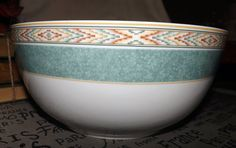 Vintage c.1995 Wedgwood Aztec pattern large salad by BuyfromGroovy