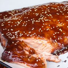 Smoked Salmon with Orange Hoisin Glaze Grilling Recipes, Fish Recipes, Seafood Recipes, Recipies, Salmon Marinade, Grilled Salmon Recipes, Smoked Fish, Salmon Dinner, Rezepte