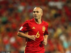 Andres Iniesta, 34 by the time of the World Cup, continues to look at home in Spain colours