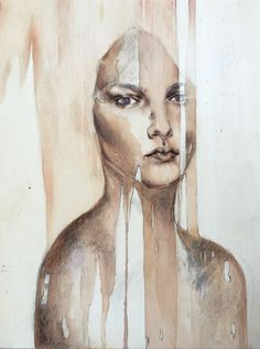 Salomè  mixed media on board, 30x40