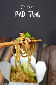Use leftover barbecued chicken to create this delicious CHICKEN PAD THAI from Lady Behind The Curtain I Love Food, Good Food, Yummy Food, Asian Cooking, Dessert, Asian Recipes, Thai Recipes, Barbecued Chicken, Cooked Chicken