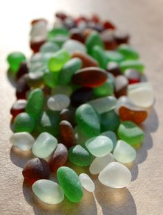 perfect sea glass from northern california beaches