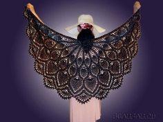 Fekete páva: Ananász mintás horgolt kendő   Kötni jó - kötés, horgolás leírások, minták, sémarajzok