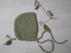 """Ness Créative - Béguin en coton """" vert mousse"""", 12/18 mois"""