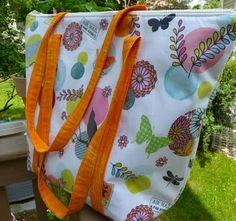 Laminated Insulated Summer Tote - Sewplicity