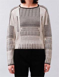 Christian Wijnants Kuno Sweater- Black/White