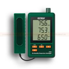 http://logger.nu/temperatur-loggers-r34851/datalogger-for-co2-temperatur-och-luftfuktighet-53-SD800-r34860  Datalogger för CO2, temperatur och luftfuktighet   Kontrollerar koldioxid (CO 2) koncentrationer  Underhållsfri dubbel våglängd NDIR (icke-spridande infraröd) CO 2 givare  Triple LCD-skärm visar samtidigt CO 2, temperatur och relativ fuktighet  Mätområden: CO 2 - 0 till 4.000 ppm; Temperatur 0 till 50 °C (- 32 till 122 °F) ; Luftfuktighet - 10 till 90% RH  Datalogger sparar...