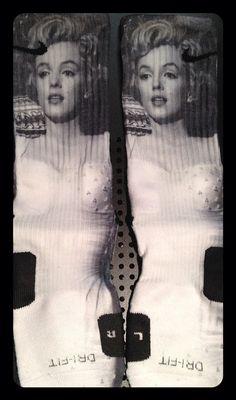 Marilyn Monroe Inspired custom Nike Elite Socks by TheSickestSocks, $35.99