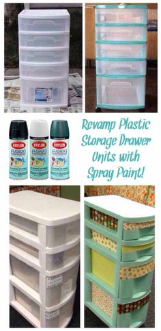 'Revamp Plastic Storage Drawer Units with Spray Paint...!' (via krylon.com)