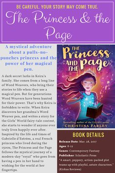 Welcome to a world where magic spills from the tip of a pen. THE PRINCESS AND THE PAGE is Christina Farley's first middle grade, releasing from Scholastic Press. Make sure you enter the $25 g…