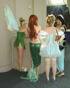 Disney Princesses having a break