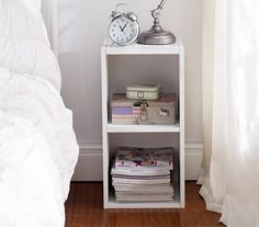 The College Cube - Dorm Nightstand - White