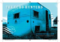 Promotional postcard and other material for Québec band The Echo Hunters. Quebec, Hunters, Print Design, Neon Signs, Band, Quebec City, Ribbon, Bands