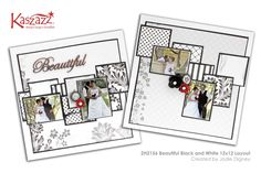 This project will show you how to create a beautiful double page scrapbook layout featuring fussy cutting, the use of the Ezy-Press and layering patterned papers. Scrapbook Page Layouts, Scrapbook Pages, Book Layouts, Scrapbooking Ideas, Create Words, Finding Yourself, Workshop, Arts And Crafts, Black And White