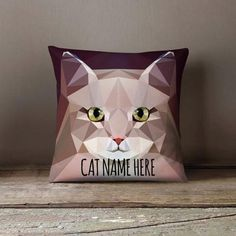 New cheap pet gift uploaded at SketchGrowl: Personalized Geometric Siberian Cat Pillowcase Gifts For Pet Lovers, Pet Gifts, Cat Lovers, Designer Pillow, Designer Throw Pillows, Geometric Cat, Cat Throw, Funny Pillows, Cat Cushion