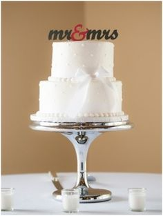 Modern Cake Topper by Better Off Wed via Heather Renee Celebrations
