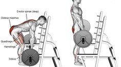 Barbell rack pull exercise