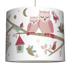 Lampenschirm \'Waldfreunde\' rosa/braun/mint Ø 40cm