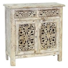 Kosas Home Hepburn Antique White Mango 2-drawer 2-door Server