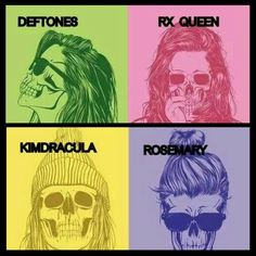 Deftones! Minerva, MX girl, Feiticeira, KimDracula, RX Queen, Rosemary, Moana, and every song title on Eros!