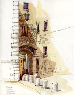 Urban Sketchers: After Barcelona: Girona and the Costa Brava