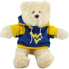West Virginia Mountaineers 8'' Plush Hoodie Bear